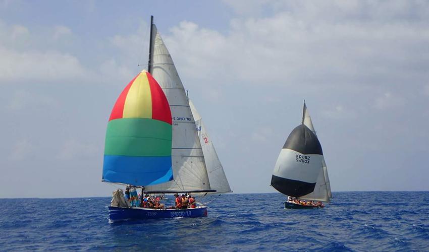 הסירות של צופי הים (צילום: שבט צופי הים חיפה)