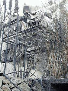 """הבית אחרי השריפה. """"הכל הלך. טוטאל לוס. מהרצפה ועד הגג"""""""