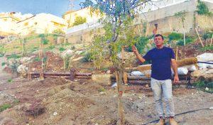 בורגר באחד מאתרי השיקום (צילום: שושן מנולה)