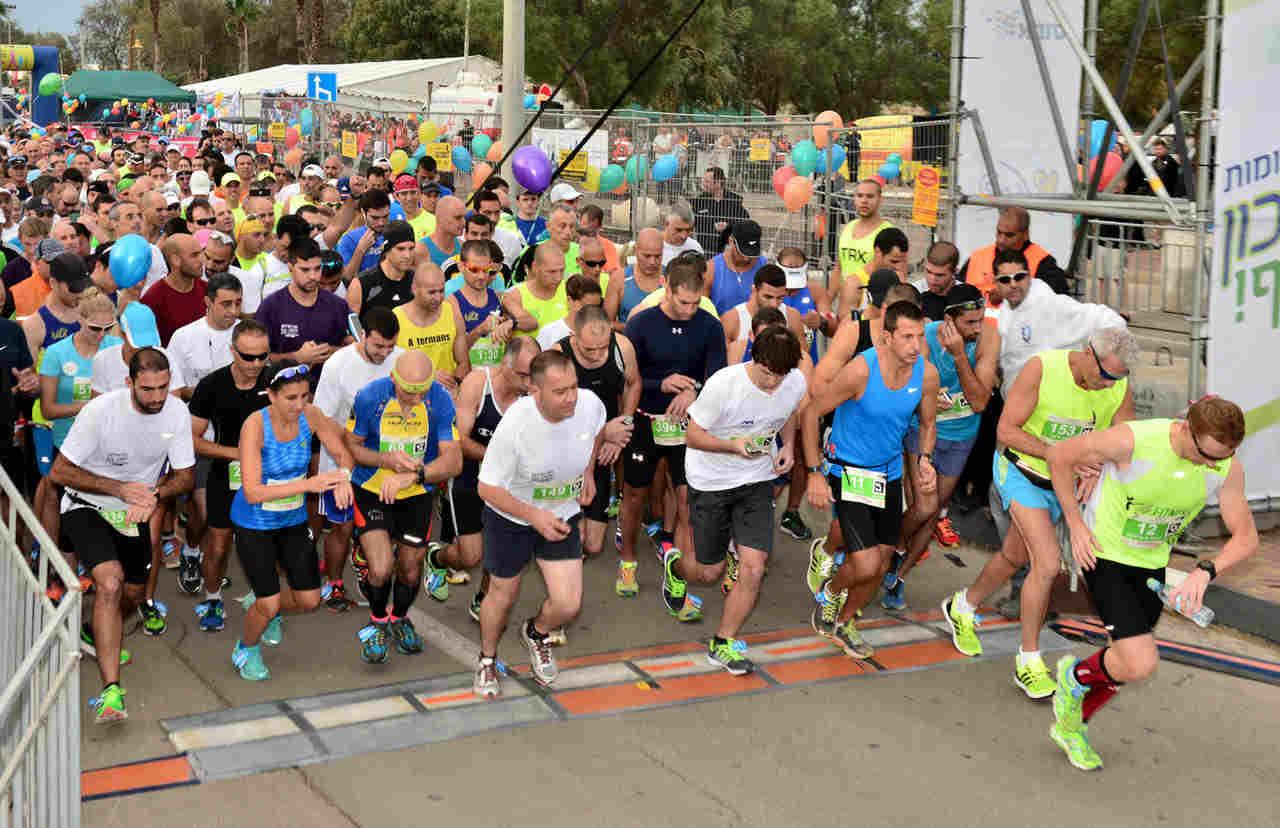 הזנקת מרוץ חיפה (צילום: דוברות עיריית חיפה)