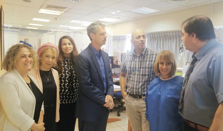 משתתפי ההשתלמות במרכז הרפואי לין (צילום: דוברות שירותי בריאות כללית)
