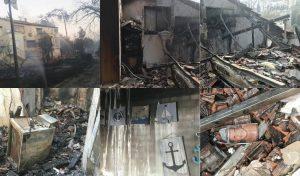 """ביתה השרוף של אהרונוביץ'. """"למה אני? למה רק אני?"""""""