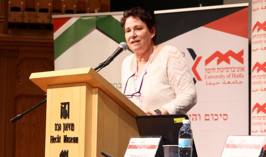 """יו""""ר ועד מחוז חיפה בלשכת עורכי הדין תמי אולמן (צילום: אוניברסיטת חיפה)"""