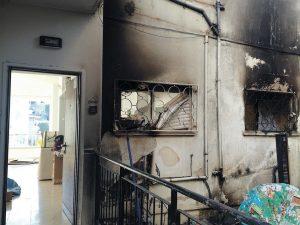 ביתה של טטיאנה ויינשטיין אחרי השריפה (צילום: עידן ויינשטיין)
