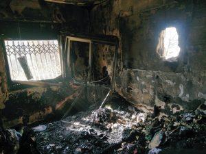 ביתו של יבגני רדזישבסקי לאחר השריפה
