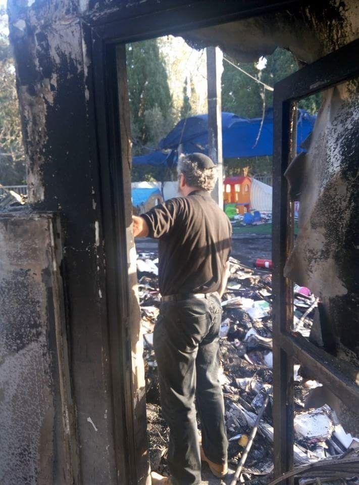 בית קהילת מוריה השרוף (צילום: קהילת מוריה)