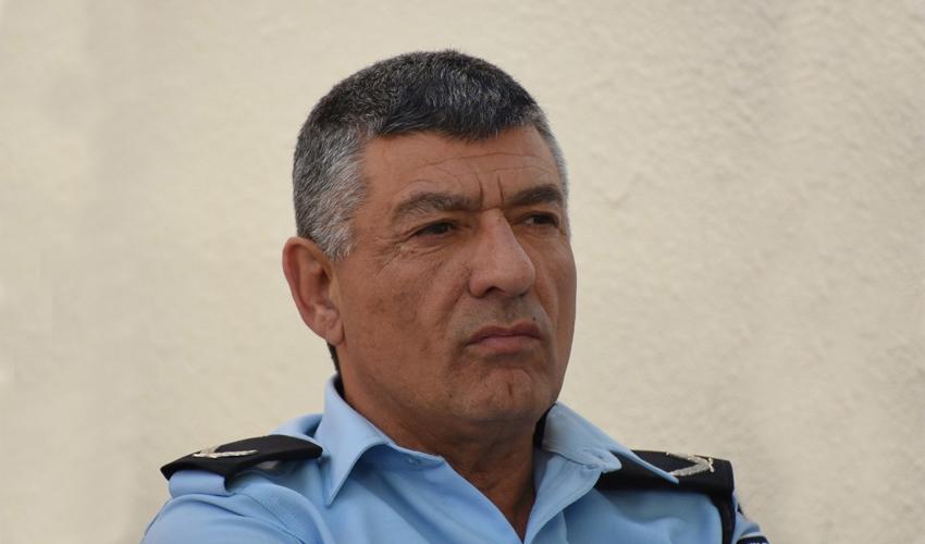 """ניצב פרץ עמר בתפקידו הקודם כסממ""""ז דרום (צילום: דוברות המשטרה)"""