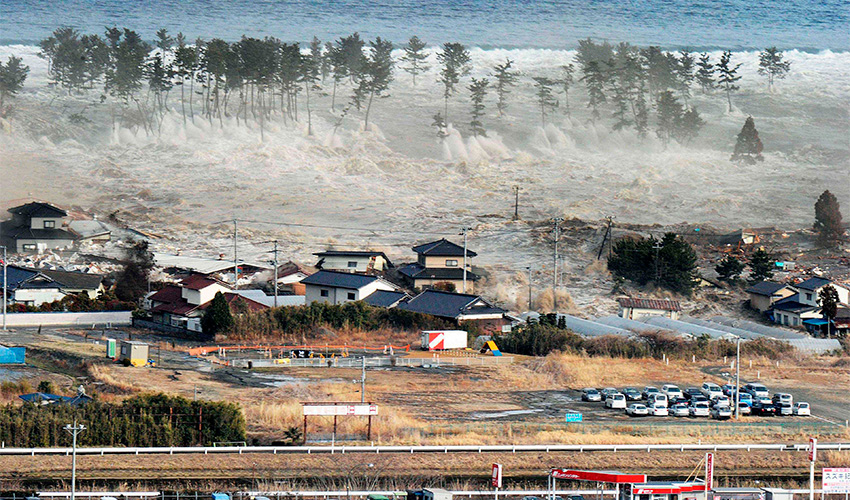 צונאמי ביפן (צילום: AP)
