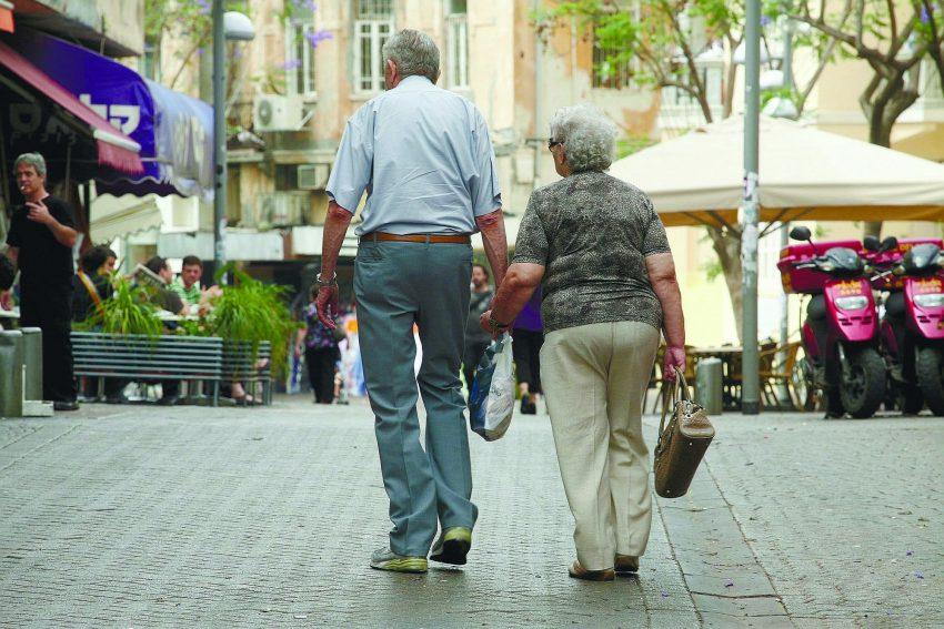 זוג קשישים (צילום: אורן זיו)
