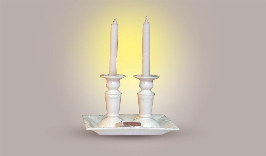 נרות שבת (צילום: גיל אליהו)