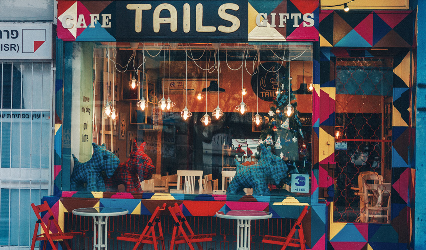 בית הקפה Tails (צילום: ארתור קוז'מן)