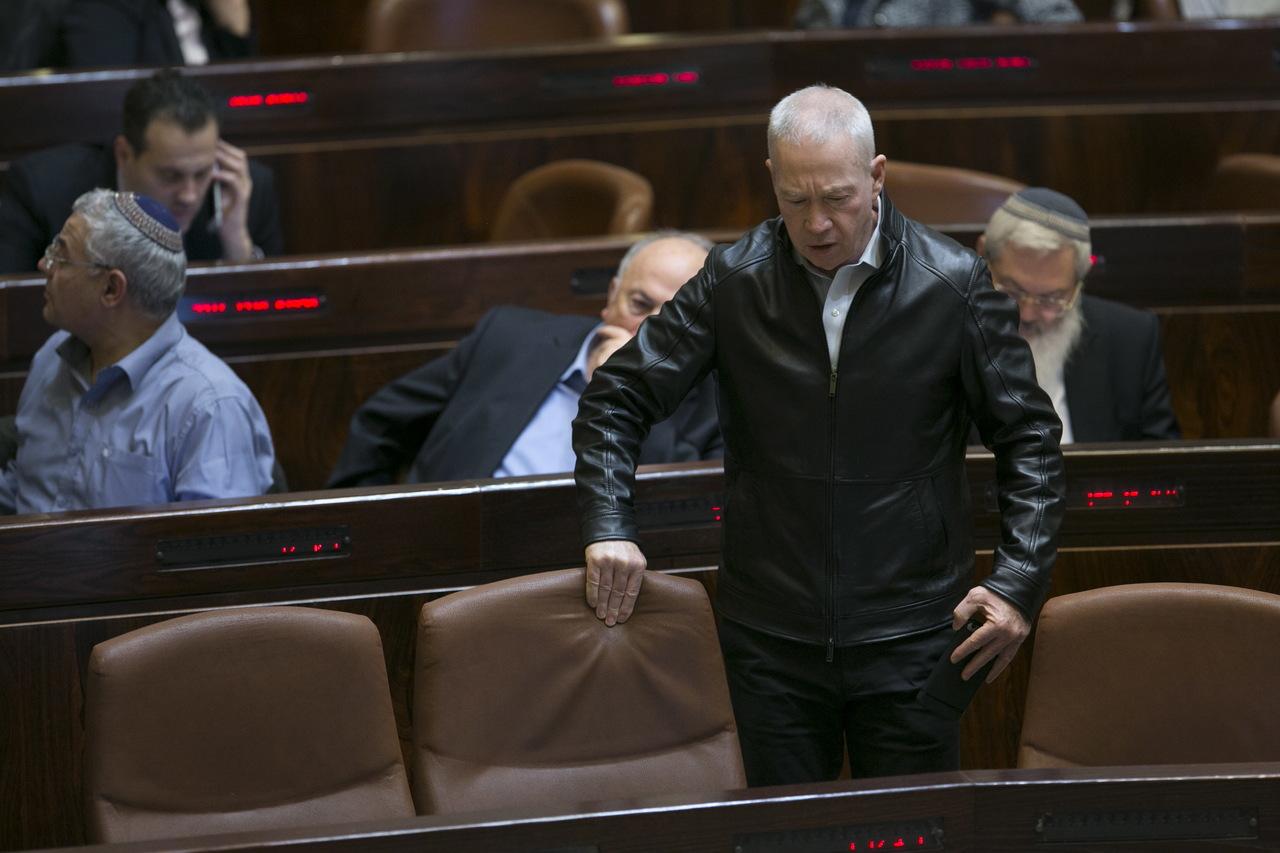 שר השיכון יואב גלנט בכנסת (צילום: אוליבייה פיטוסי)