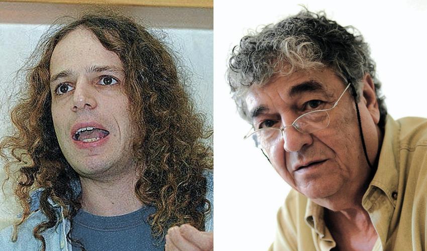 דודו אלהרר ואמיר חצרוני. שמאל ימין שמאל (צילום: חן גלילי, ניר קידר)