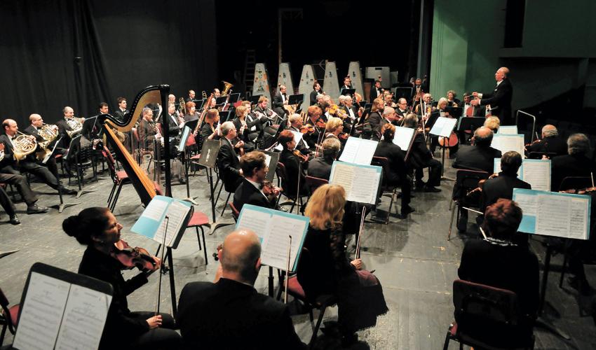התזמורת הסימפונית חיפה (צילום: תומר נויברג)