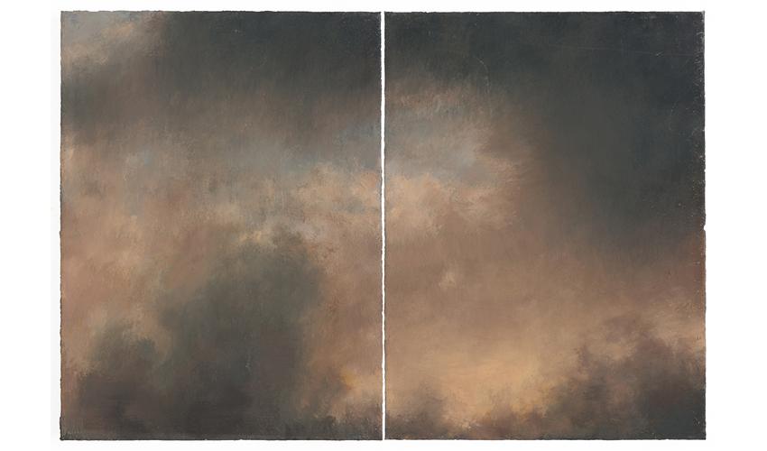 """עבודה של אילנה חמאוי בתערוכה """"עמוד ענן"""""""