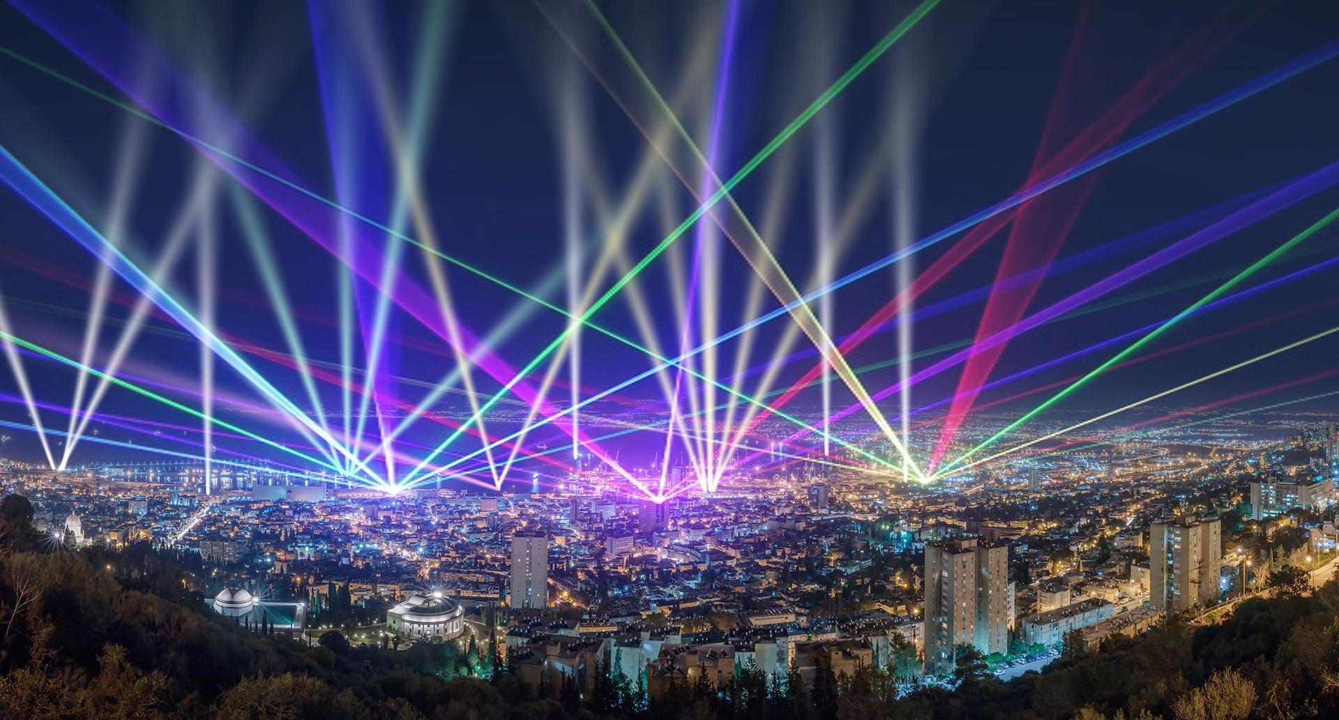 מופע אור-קולי (הדמיה: חברת OG אדריכלים)