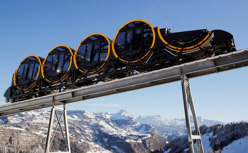 פוניקולר בשווייץ (צילום: רויטרס)
