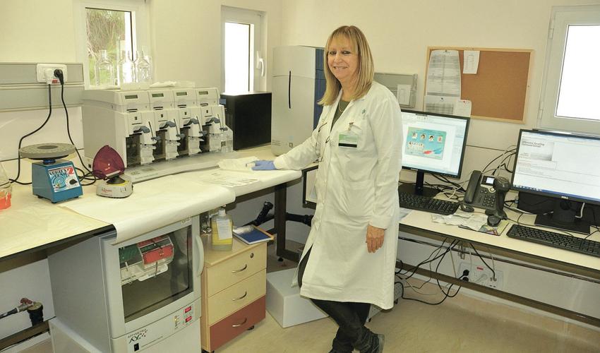 מעבדת הצ'יפ הגנטי (צילום: אלי דדון)