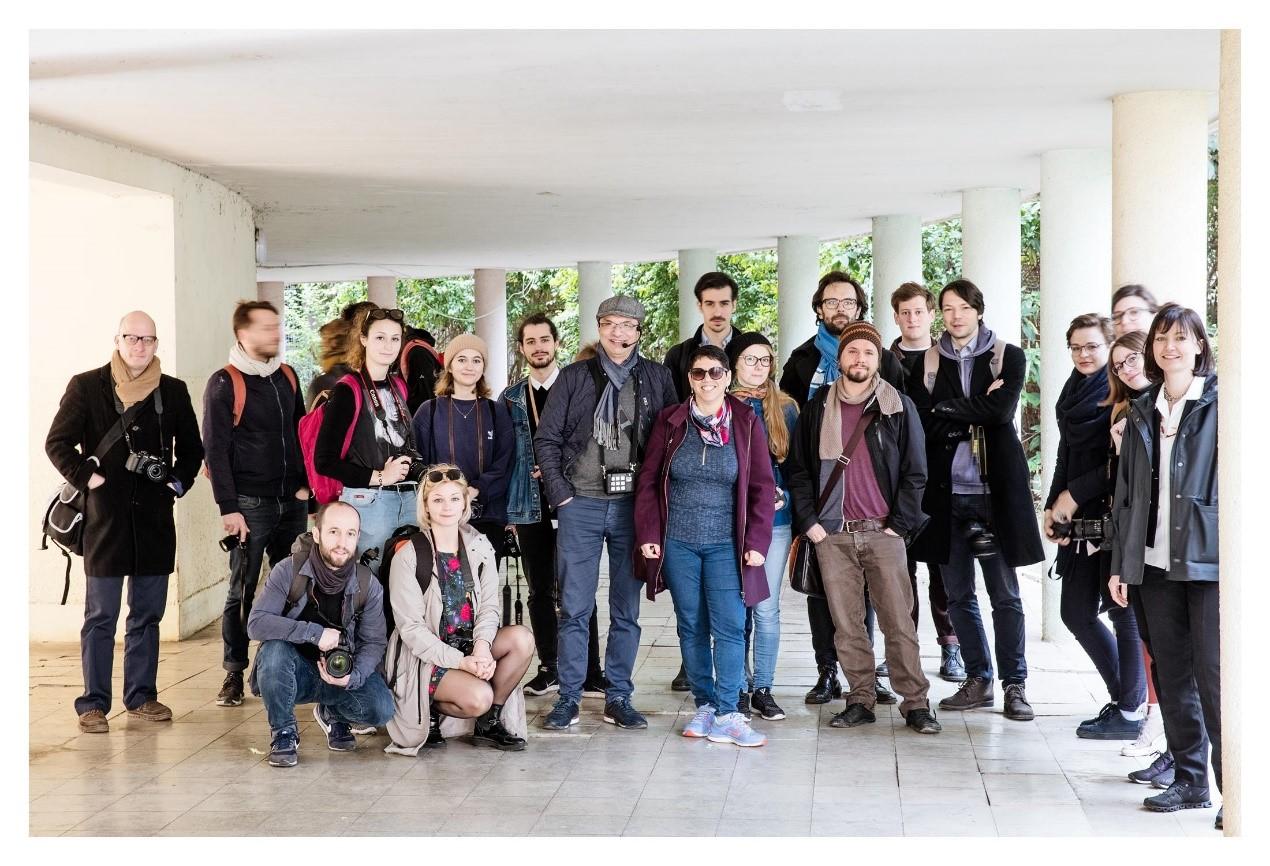 משלחת הסטודנטים מגרמניה (צילום: דוברות עיריית חיפה)
