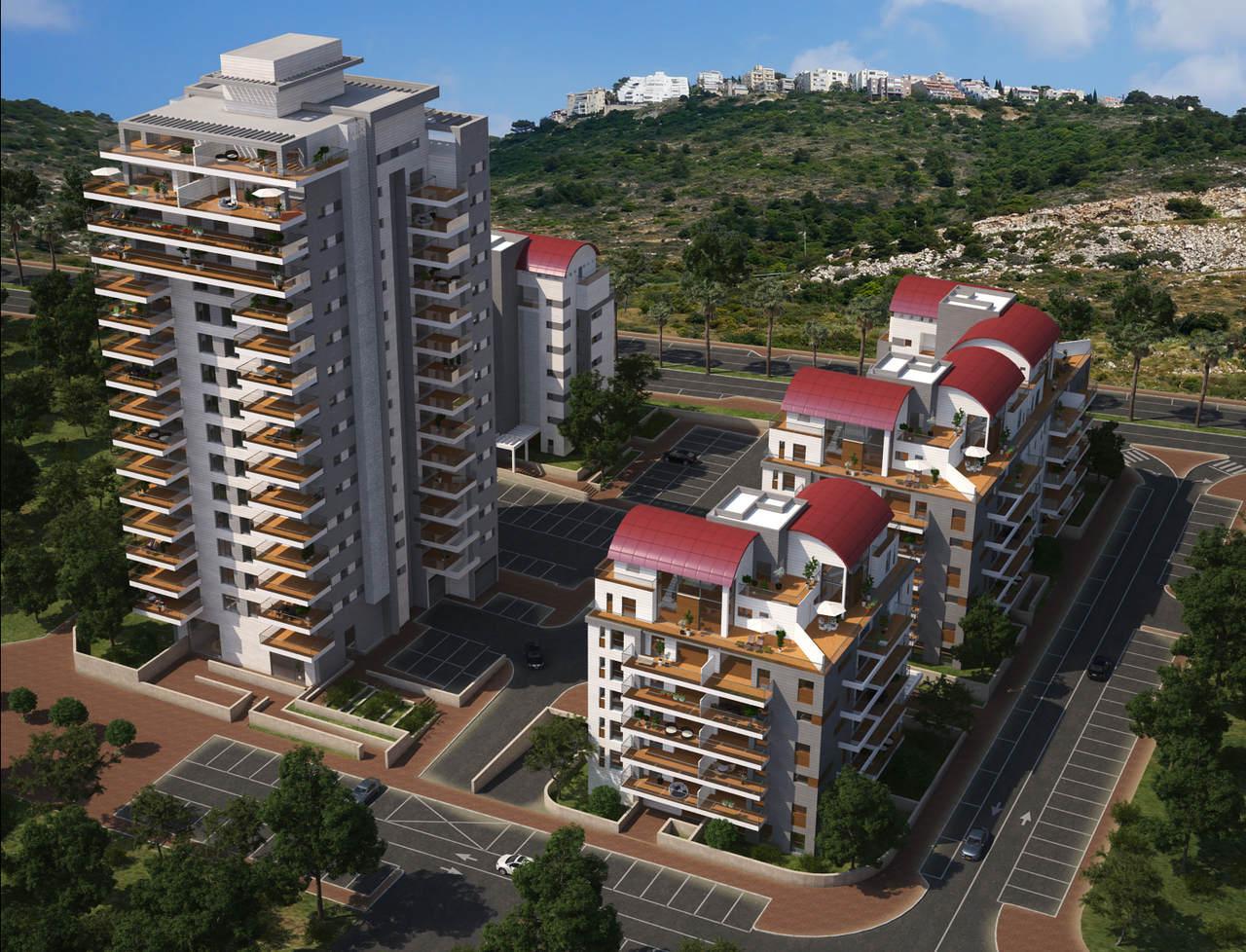 פרויקט טורקיז בנאות פרס (הדמיה: חברת הבנייה יוסי אברהמי)