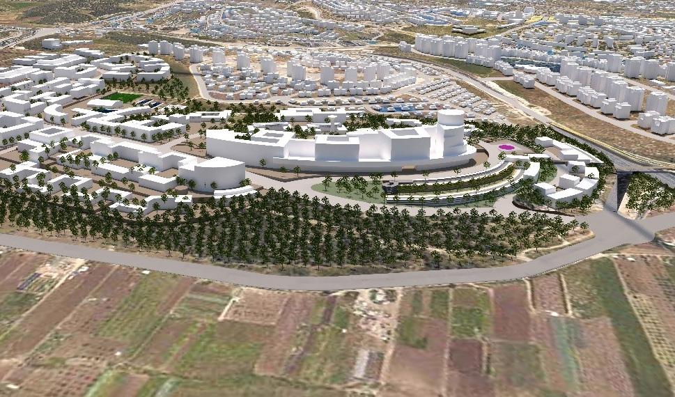 תוכנית הבנייה לצפון קרית אתא (הדמיה: משרד מילול-קורן ארכיטקטורה ובינוי ערים)
