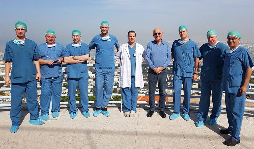 הרופאים מצ'כיה שהשתתפו בקורס (צילום: הנהלת המרכז הרפואי בני ציון)
