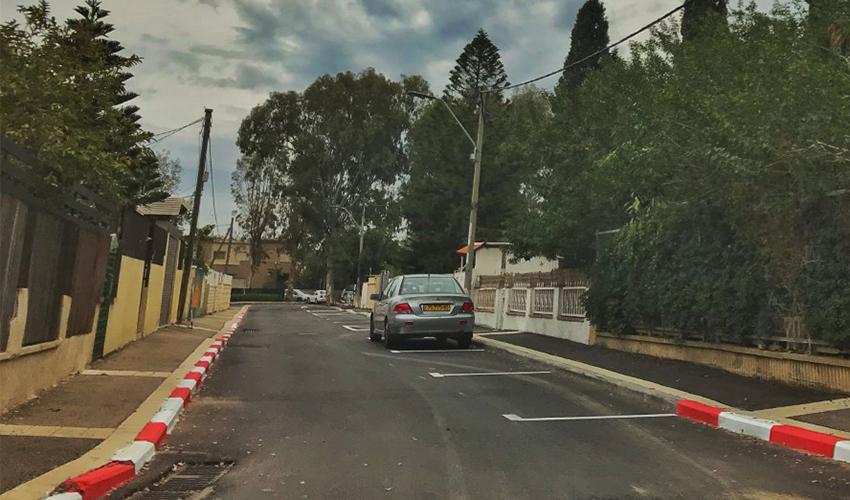 רחוב אנה פרנק (צילום: ניר בלזיצקי, דוברות עיריית חיפה)