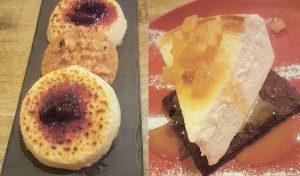 עוגת גבינה וקרם ברולה