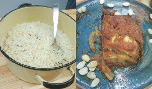 לזניית קישואים ואורז מבושל