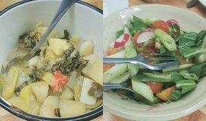 סלט שוק ותבשיל ירקות טורקי
