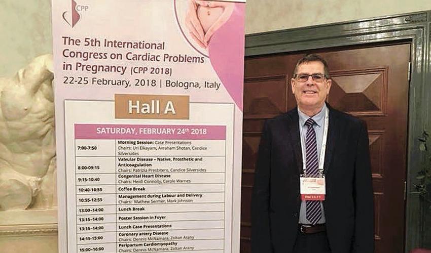 """ד""""ר אלי גוטרמן בכנס בבולוניה (צילום: דוברות שירותי בריאות כללית)"""