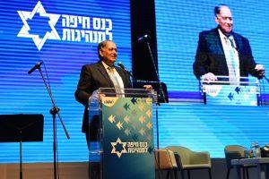 יונה יהב בכנס חיפה למנהיגות בשנה שעברה (צילום: ראובן כהן)