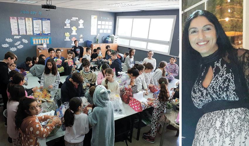 ימית שרה אליהו וילדי בית הספר לתקשורת על שם שלמה תל אורזים משלוחי מנות
