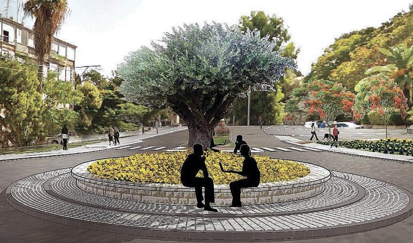 מעגל התנועה במפגש הרחובות אלנבי ויצחק שדה (הדמיה: חברת יפה נוף)