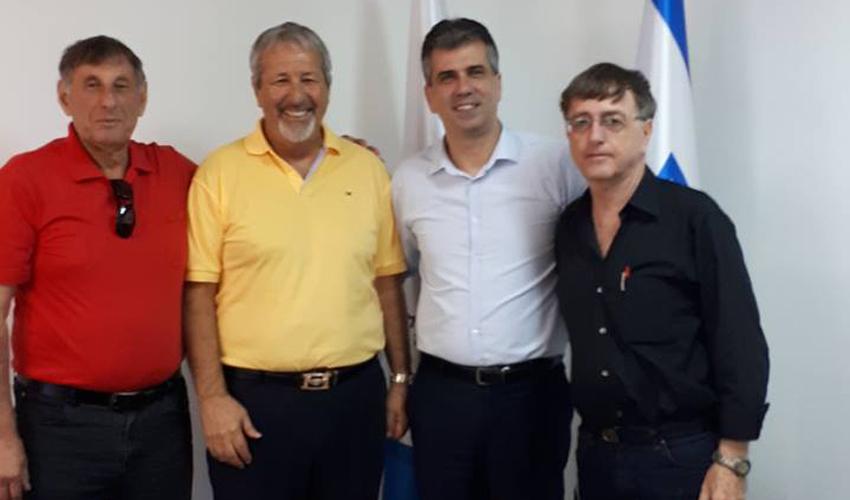פגישת ראשי ההתאחדות עם השר אלי כהן (צילום: דוברות התאחדות המלאכה והתעשייה בחיפה והצפון)