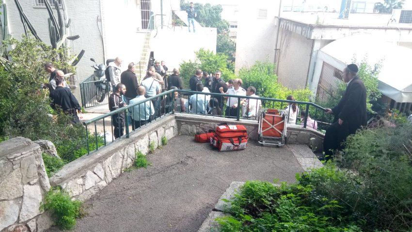 מקום ההתבצרות של החשוד (צילום: דוברות משטרת ישראל)