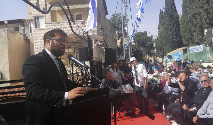 """ח""""כ אורן חזן בטקס הזיכרון לשואה ולגבורה (צילום: אלה אהרונוב)"""