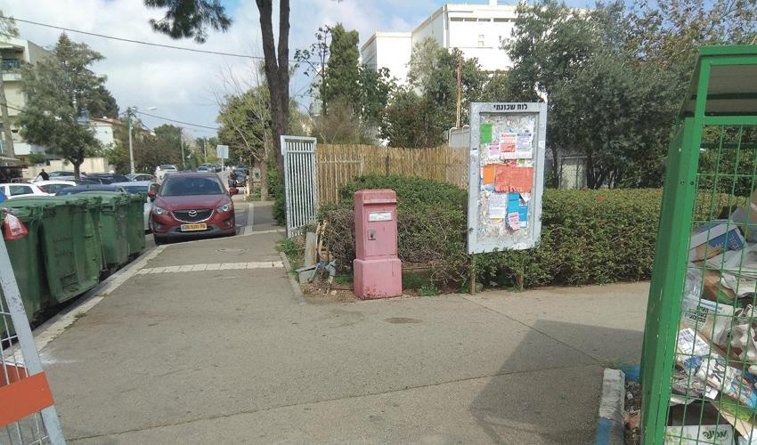 תיבת דואר בכיכר זיו (צילום: אבי שמול)