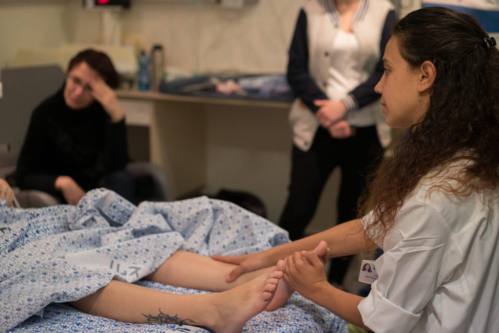 טיפולי רפלקסולוגיה במהלך לידה, המרכז הרפואי בני ציון