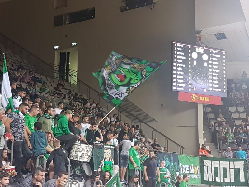 הקופים הירוקים במשחק בין מכבי חיפה להפועל ירושלים. קיבלו את מה שביקשו