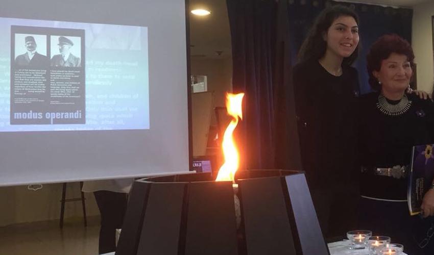 טקס יום השואה הארמנית (צילום: מרכז חינוך ליאו באק)