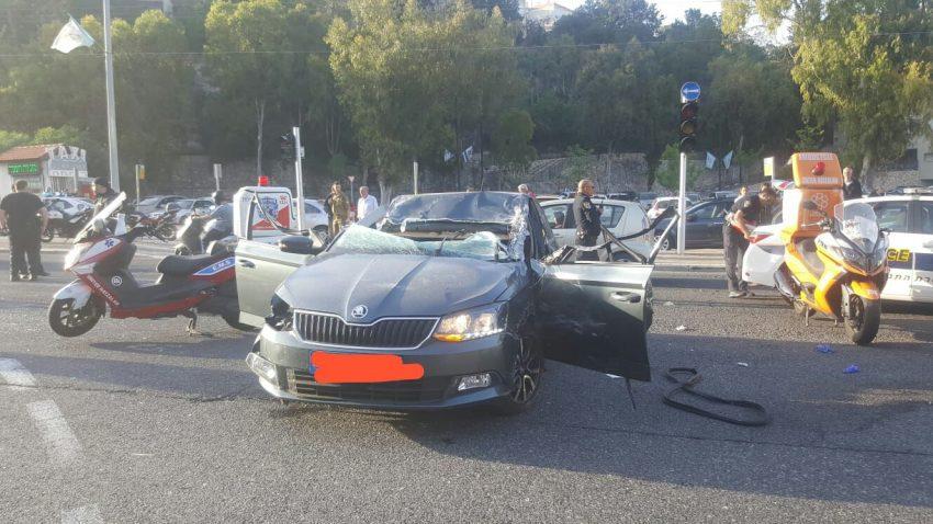 """זירת התאונה בדרך פיק""""א (צילום: דוברות איחוד הצלה כרמל)"""