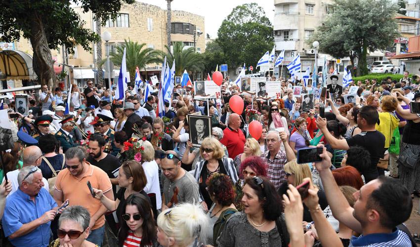 מצעד הווטרנים בהדר (צילום: ראובן כהן)