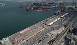 המיצג בנמל חיפה (צילום: דוברות נמל חיפה)