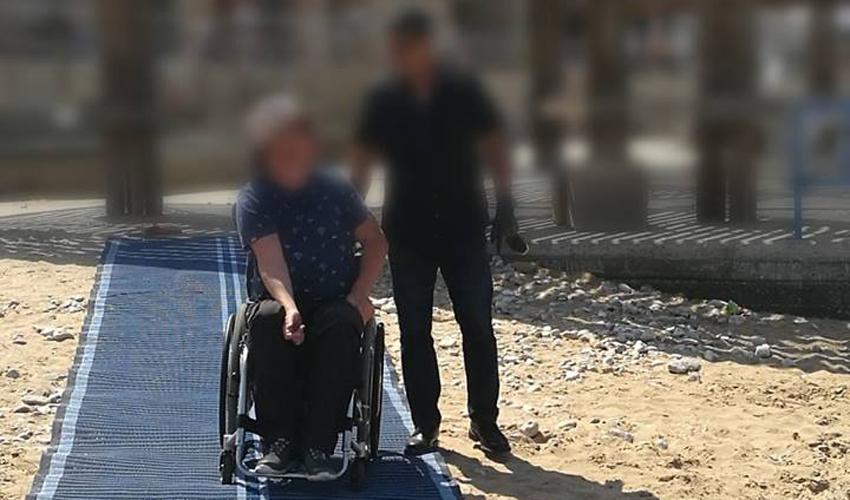 הנגשת כיסאות גלגלים בחוף זמיר
