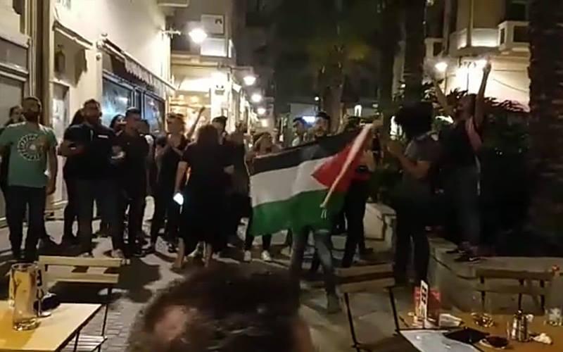 הפגנה ברחוב נתנזון בשבוע שעבר