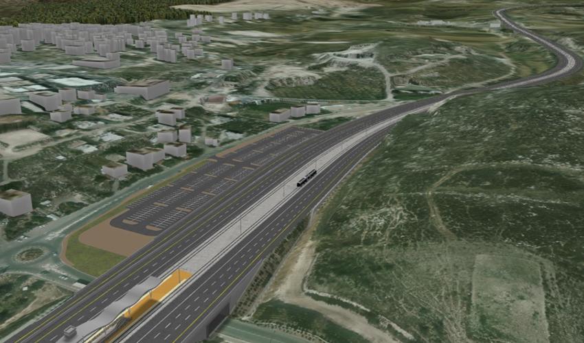 הרכבת הקלה מחיפה לנצרת (הדמיה: RDV Systems)