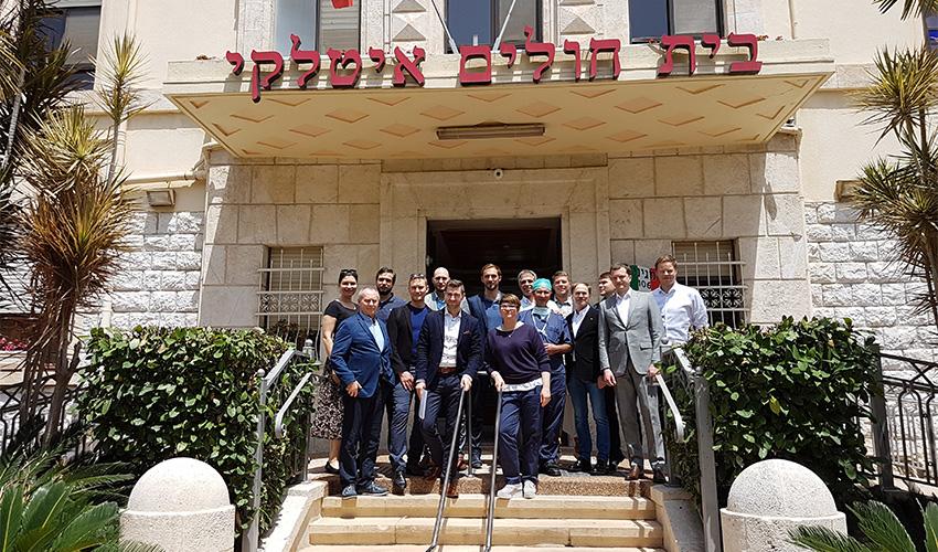 משתתפי כנס הפלסטיקאים בבית החולים האיטלקי