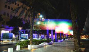 מיצג אורות ברחוב שער פלמר (צילום: דוברות עיריית חיפה)
