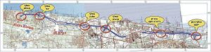 מפת כביש החוף המתוכנן (שרטוט: חברת נתיבי ישראל)